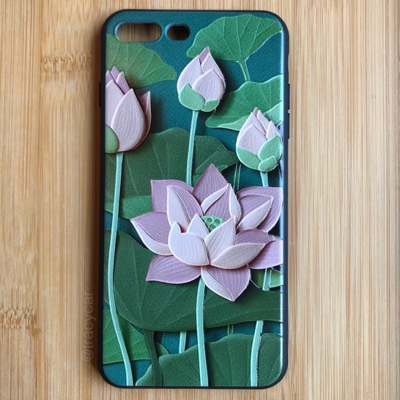 Accessories New Iphone 7878 Pink 3d Lotus Flower Case Poshmark